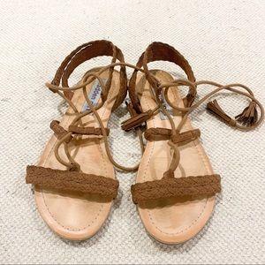 Madden Girl Tie Strap Sandals